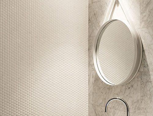 Materialen mix in badkamer ontwerp