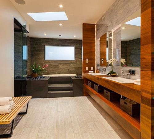 Milieuvriendelijke badkamer met veel luxe