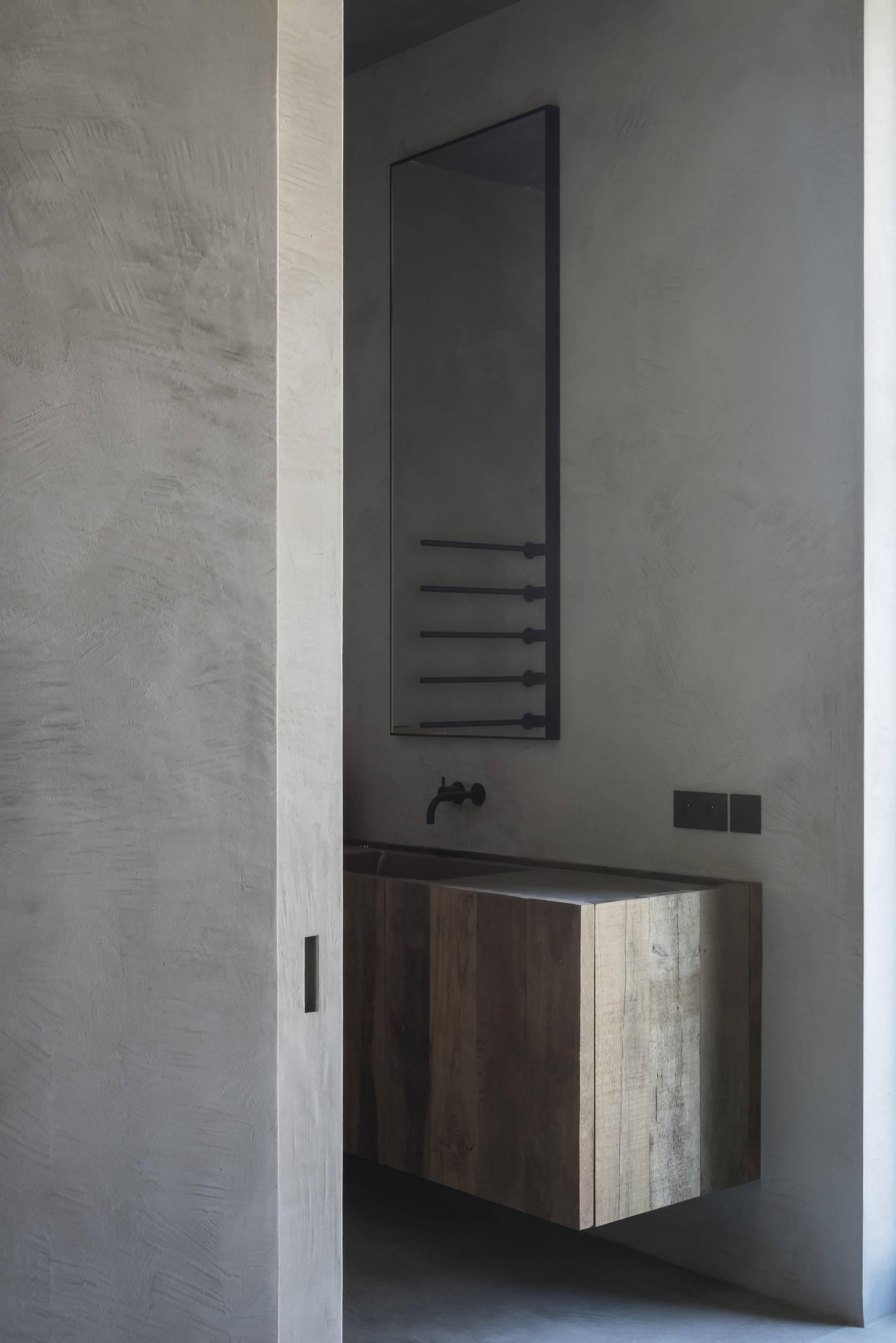 badkamers voorbeelden minimalistisch stoere badkamer met