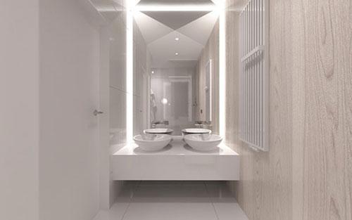 Minimalistische badkamer uit Polen