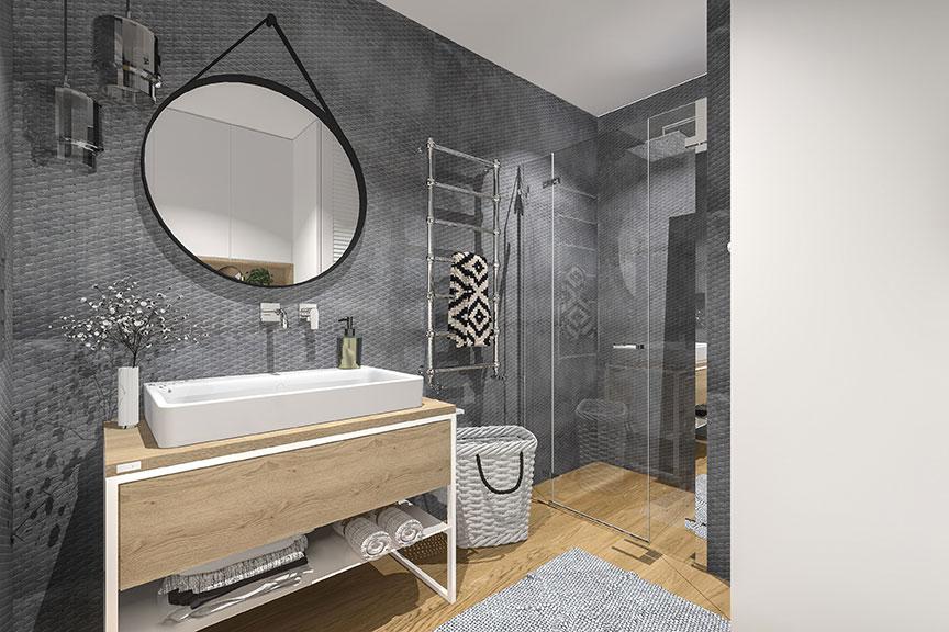 MO Architekci ontwerpt een moderne en super strak afgewerkte badkamer