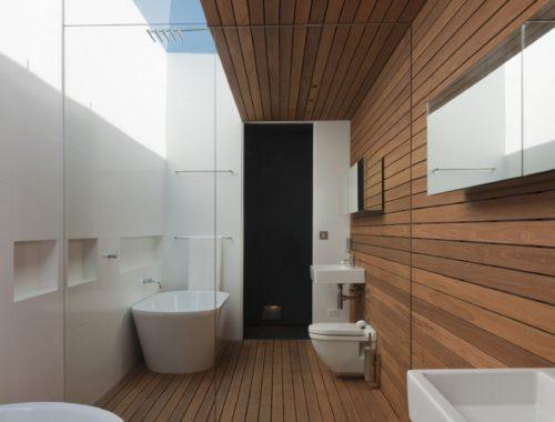 moderne badkamer composiet planken