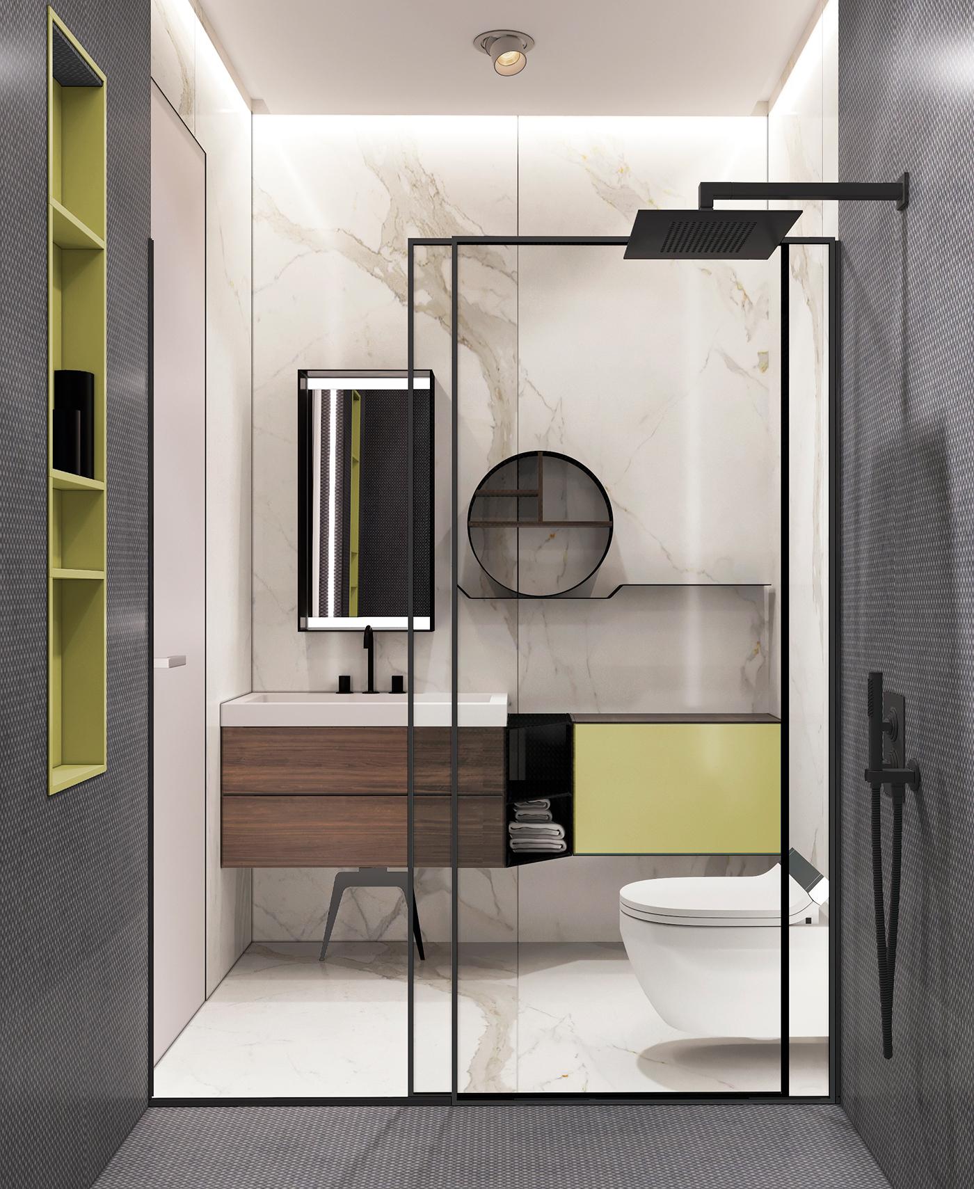 Moderne badkamer met een hoog designgehalte - Badkamers voorbeelden
