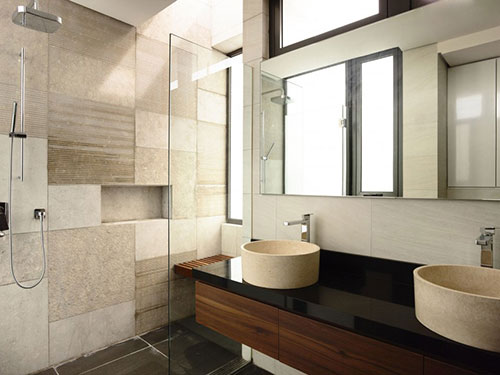 Moderne badkamer met luxe uitstraling door a-dlab - Badkamers ...