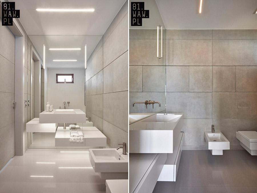 Moderne badkamer met kubussen thema - Badkamers voorbeelden