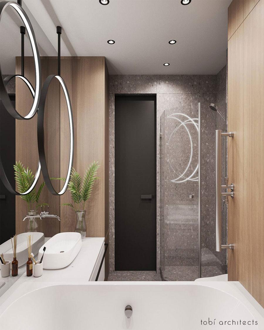 Moderne badkamer met sfeervolle exclusieve kleuren