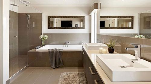 Moderne badkamer van moderne woning in Melbourne