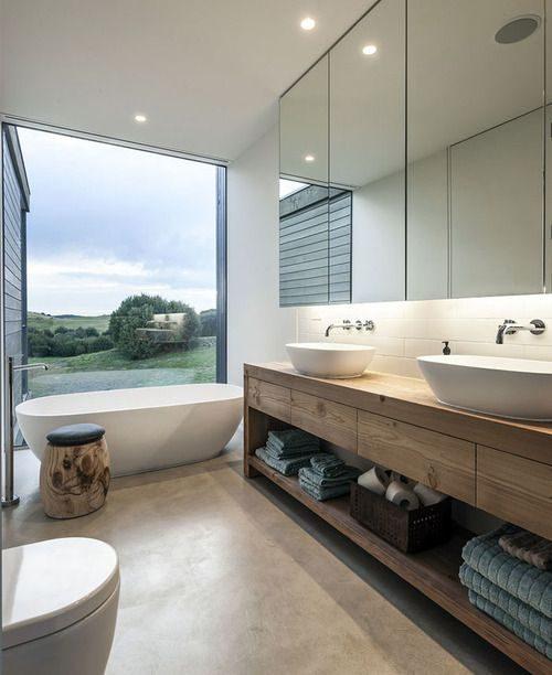 Moderne badkamer met mooie voorzieningen badkamers voorbeelden - Moderne design badkamer ...
