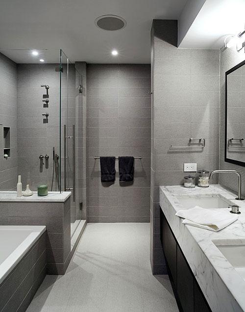 Moderne badkamer uit New York - Badkamers voorbeelden