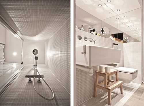 Badkamer Met Grijze Mozaiektegels : Badkamers voorbeelden » Moderne ...