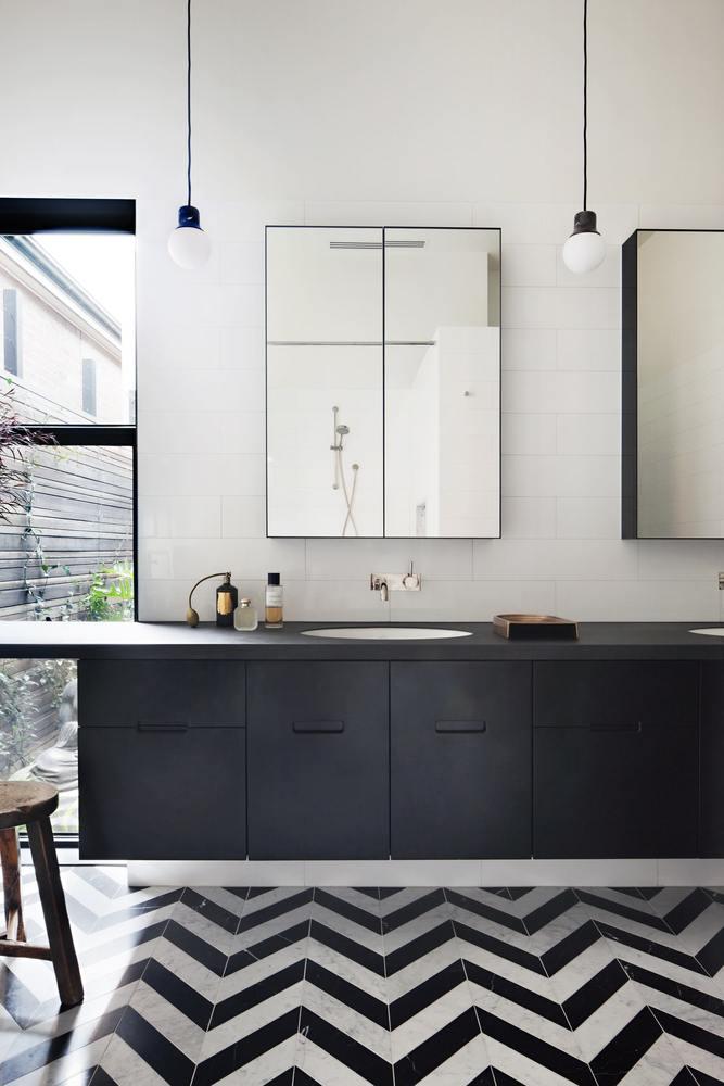 Moderne badkamer met een Victoriaans tintje