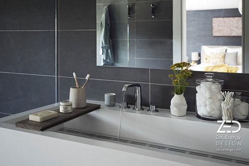Moderne comfortabele badkamer