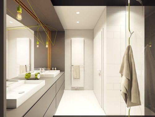 Moderne design badkamer door ontwerpbureau PLASTERLINA