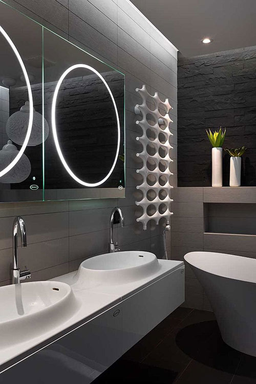 Moderne design badkamer in penthouse appartement