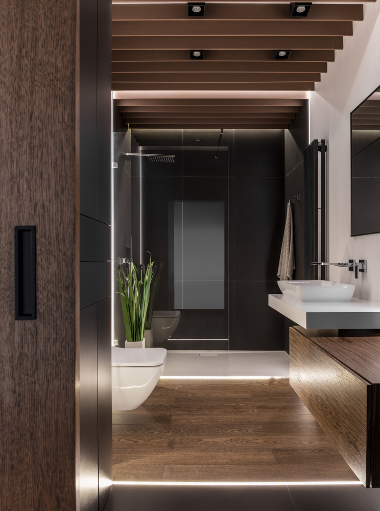 Moderne luxe badkamer van 6,3m2 door Metaforma
