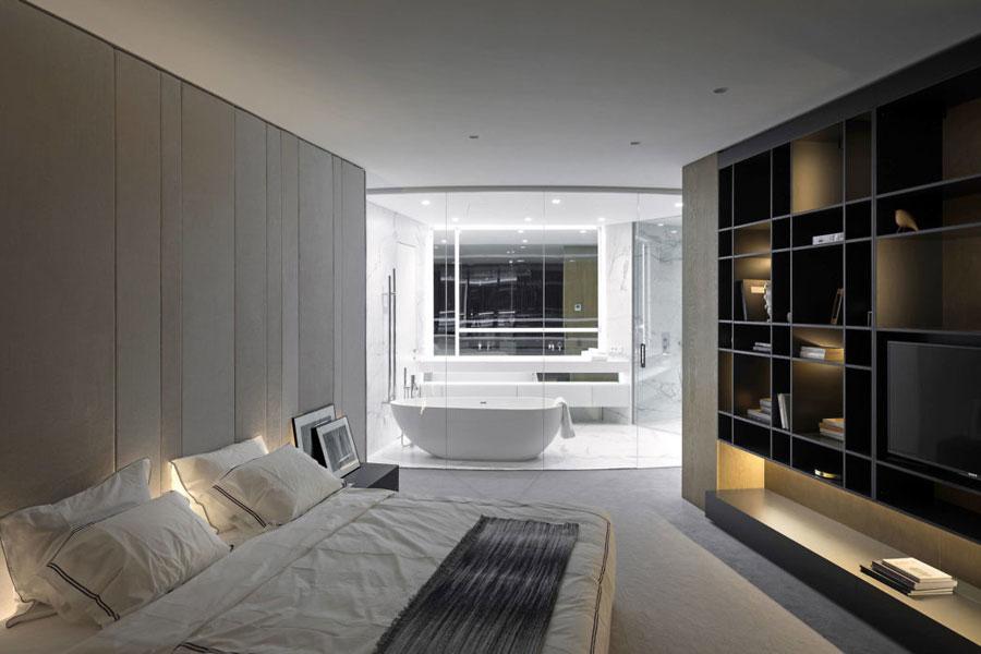 Moderne luxe marmeren badkamer en suite