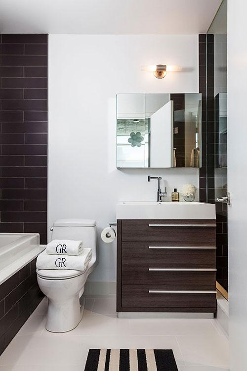 Moderne retro badkamer