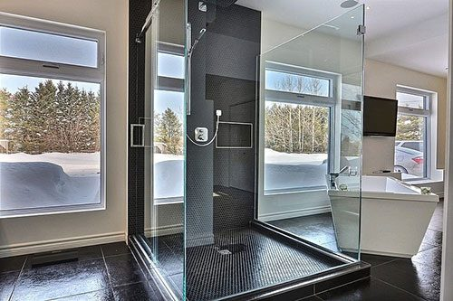 Moderne badkamer slaapkamer combinatie