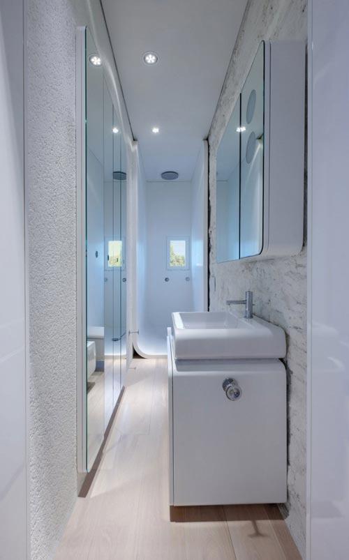 New Moderne smalle badkamer - Badkamers voorbeelden &FM25