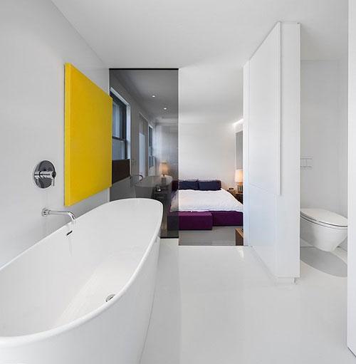 Moderne strakke designbadkamer inspiratie