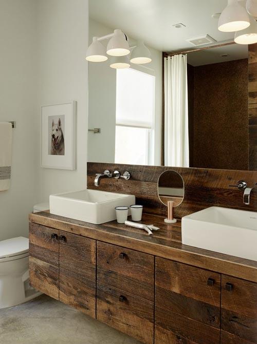 Moderne victoriaanse badkamer badkamers voorbeelden - Rustieke badkamer meubels ...