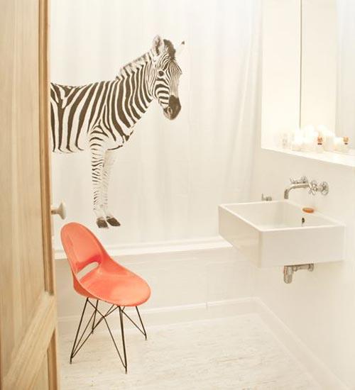 Mooie douchegordijn - Badkamers voorbeelden
