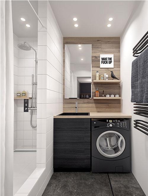 Mooie kleine badkamer inspiratie - Badkamers voorbeelden