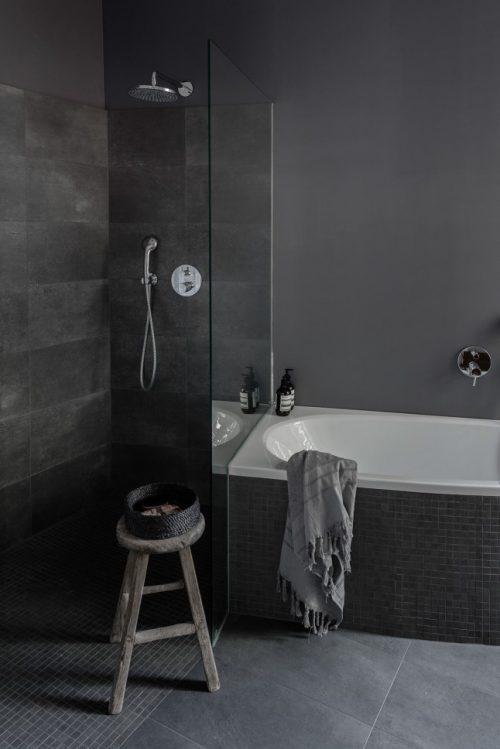 Mooie moderne grijze badkamer badkamers voorbeelden - Mooie moderne badkamer ...
