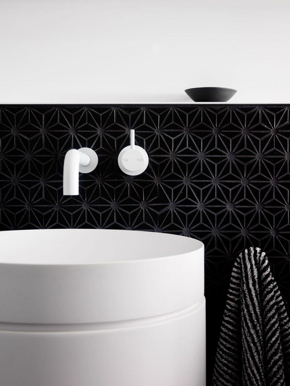Mooie zwart wit designbadkamer