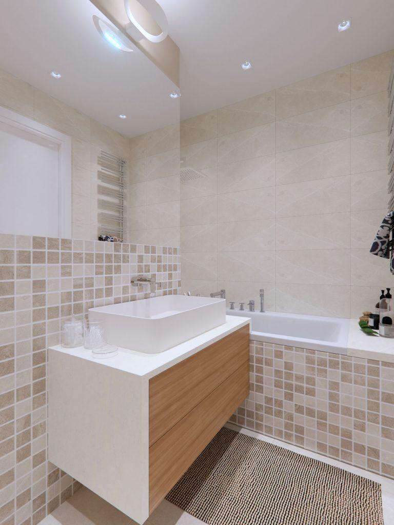 Mooseberry design ontwerpt de droombadkamer in een klein studio appartement badkamers voorbeelden - Ontwikkel een kleine studio ...