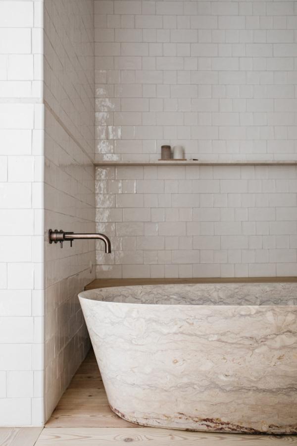 Natuurlijke serene badkamer van Santa Clara 1728