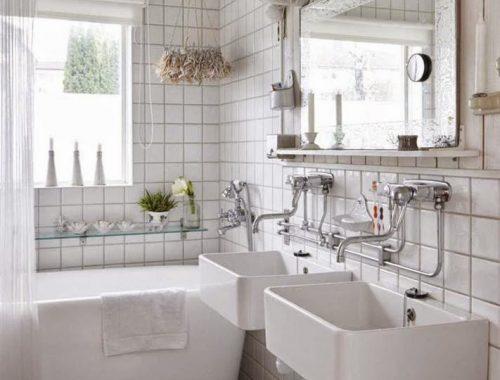 Nonchalante bohemien badkamer