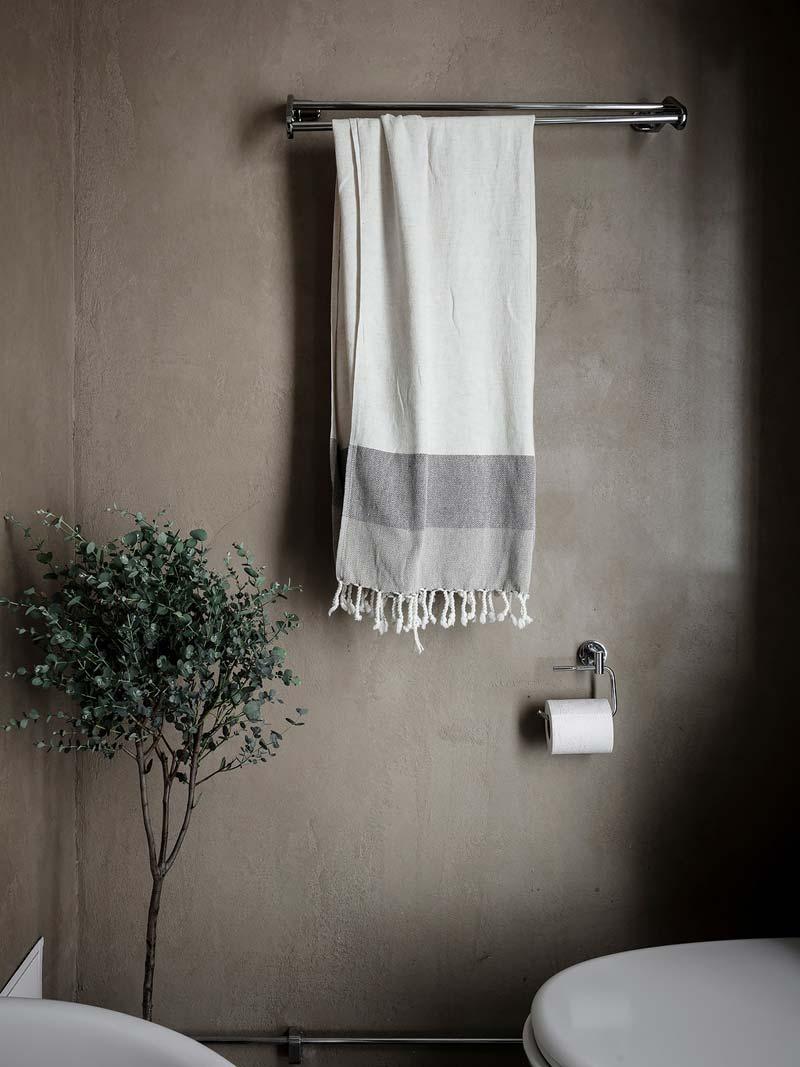 olijfboom in badkamer