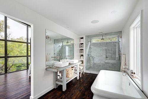 Open badkamer in klassieke stijl - Badkamers voorbeelden