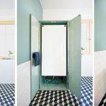 Opvouwbad in de retro badkamer