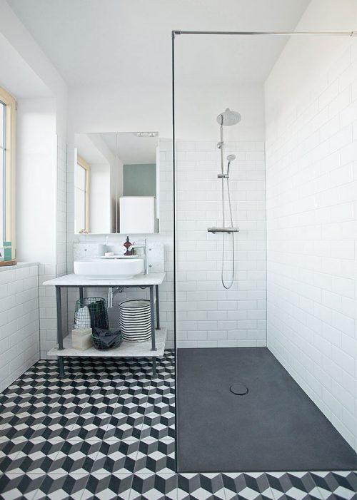 Opvouwbad in de retro badkamer - Badkamers voorbeelden