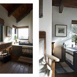Oude badkamer boerderij stijl