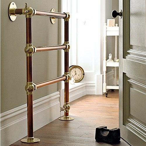 Ouderwetse badkamer radiatoren - Badkamers voorbeelden