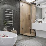 Modern stoere loft badkamer