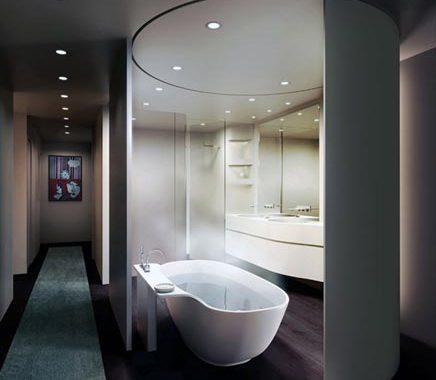 Ovale moderne badkamer