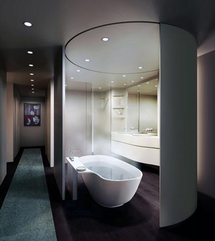 Ovale moderne badkamer badkamers voorbeelden - Moderne badkamer tegelvloeren ...