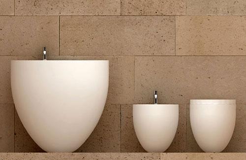 Ovalen badkamer sanitair