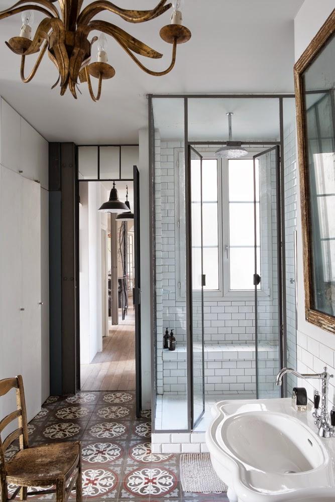 Prachtige klassieke badkamer in Parijs - Badkamers voorbeelden