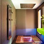 Praktisch idee voor bad en douche in kleine badkamer