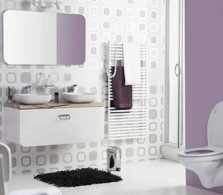 Retro badkamer van de Praxis