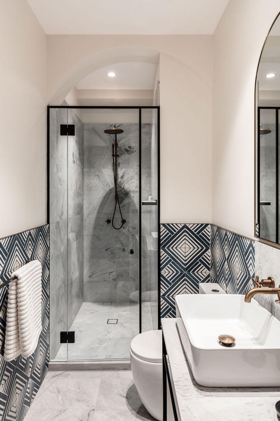 Retro chique badkamer van boektiekhotel uit Sydney