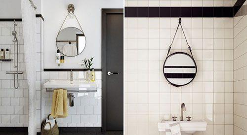Zwarte Ronde Spiegel : Spiegels loods
