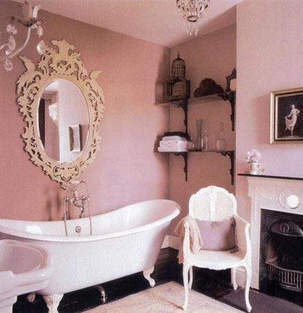 Roze Klassieke Badkamer Pictures