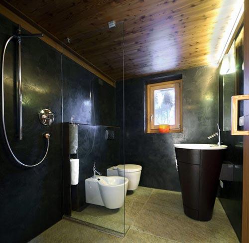 Rustieke badkamer van italiaanse chalet badkamers voorbeelden for Badkamer design italiaanse douche