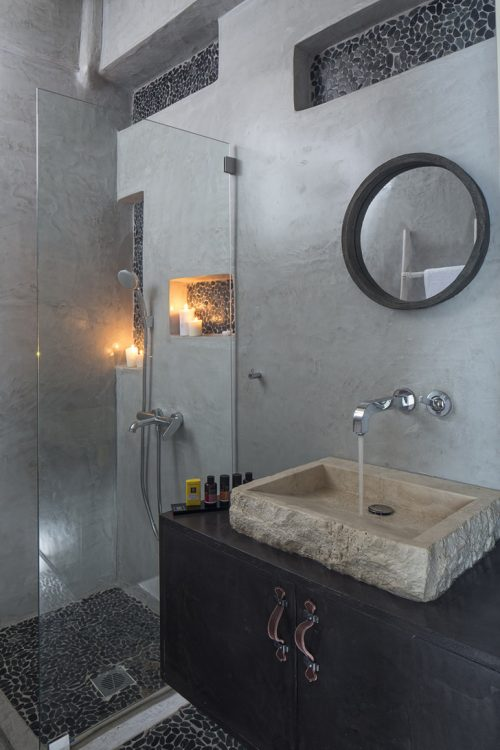 Rustieke badkamers met natuursteen moza ek in grieks hotel badkamers voorbeelden - Badkamer met mozaiek ...